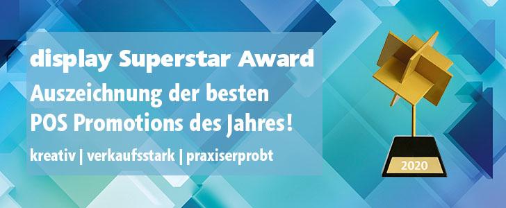 display Superstar Award anmelden
