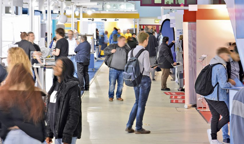 Messe, PSI, Promo Tex Expo, viscom, Besucher, Aussteller, Digital