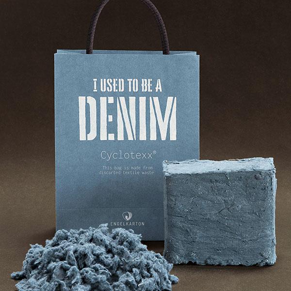 Nachhaltige Transformation: Baumwollstaub verwandelt sich in eine Tragetasche fürs Shopping.  Foto: Engel Karton + Papier GmbH