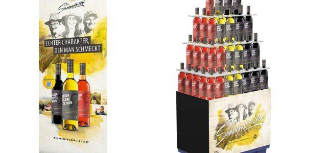 Badischer Winzerkeller, Roll Up, Display, Nachhaltigkeit, Etikett, Gesichter