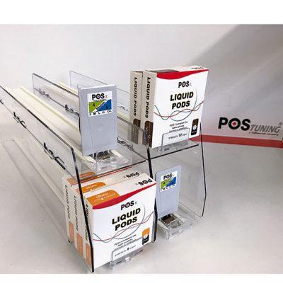 Den Regalplatz optimal nutzen:Lösungen von POS Tuning ermöglichen es, neue Ebenen mit Produkten zu schaffen und mit Vorschubsystemen auszustatten.