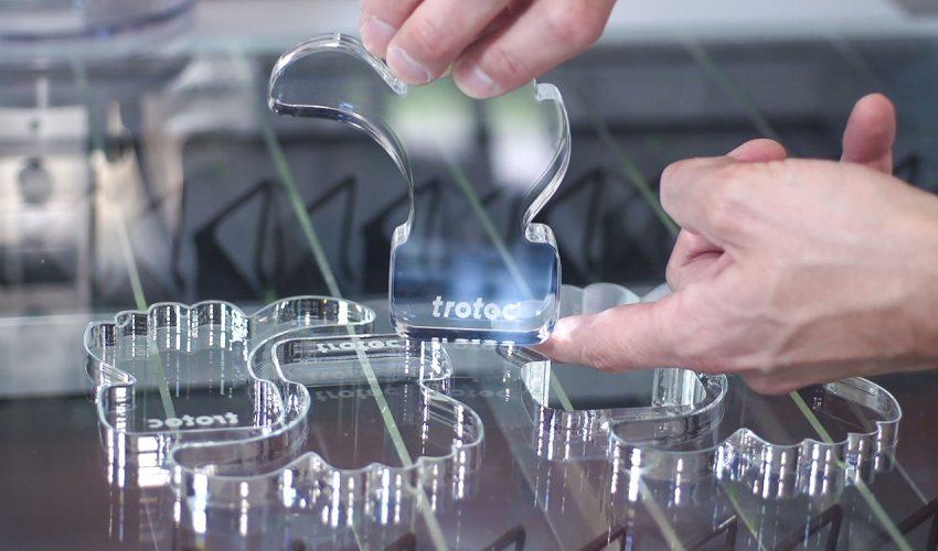 Der Laser ermöglicht filigrane Ergebnisse. Foto: Trotec