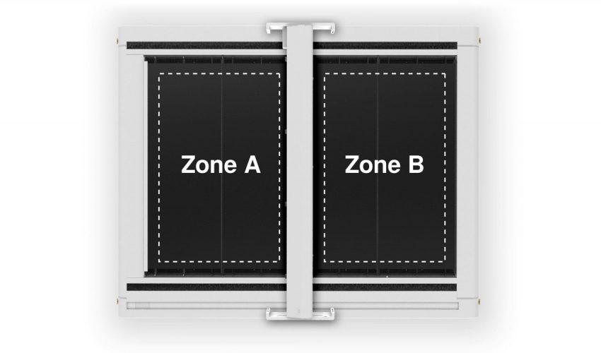 Der Operator wird in seinem Workflow effizient durch den Tandem Assistenten begleitet. Dank dieser Funktion der Lasersoftware JobControl® kann die Bearbeitungsfläche virtuell in zwei Zonen geteilt werden. Während der Laser Cutter in Zone A das Material bearbeitet, können in Zone B die fertig geschnittenen Teile entnommen und die Bearbeitungsfläche neu beladen werden. Stillstandzeiten werden minimiert und die Produktivität erhöht sich entscheidend. Foto: Trotec