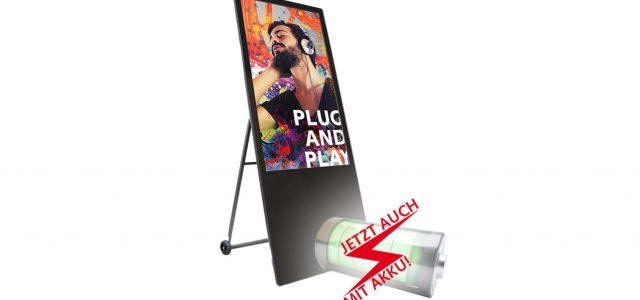 marketing-displays digitaler Kundenstopper mit Akku