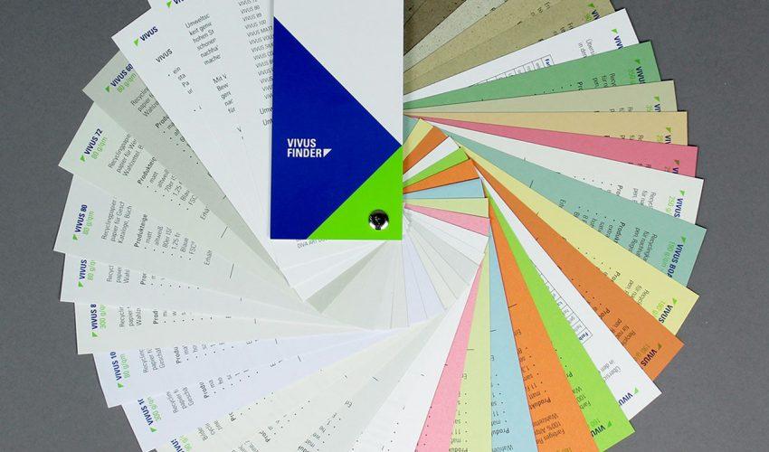 Umweltfreundliches Papier Berberich Papier Vivus Finder