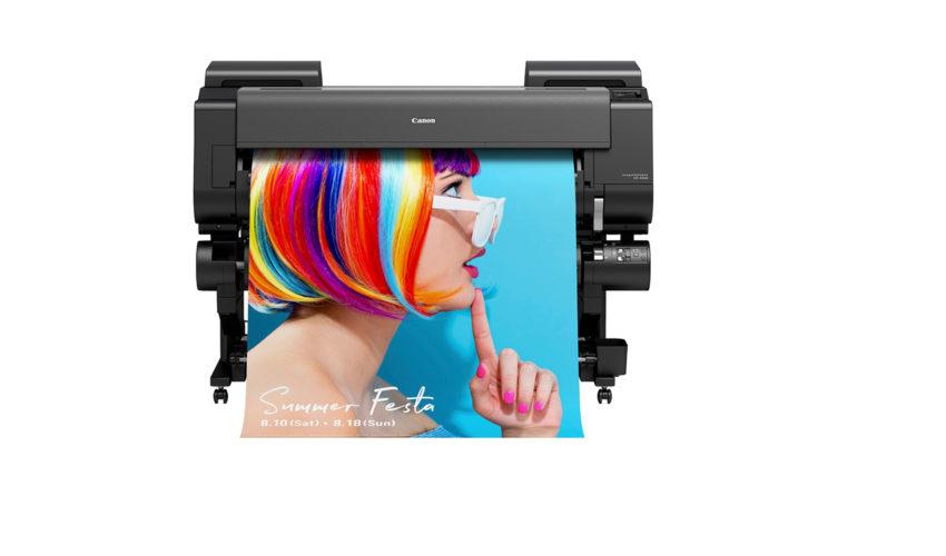 Canon imageprograf GP 4000 mit fluoreszierender Tinte
